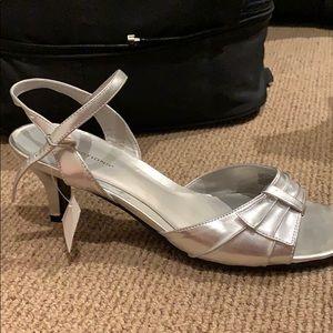 Silver, 1 in heels